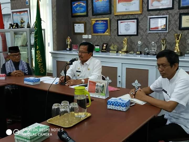 Wabup Pinrang Pimpin Rapat Terbatas Pelaksanaan Ibadah Ditengah Pandemi Corona
